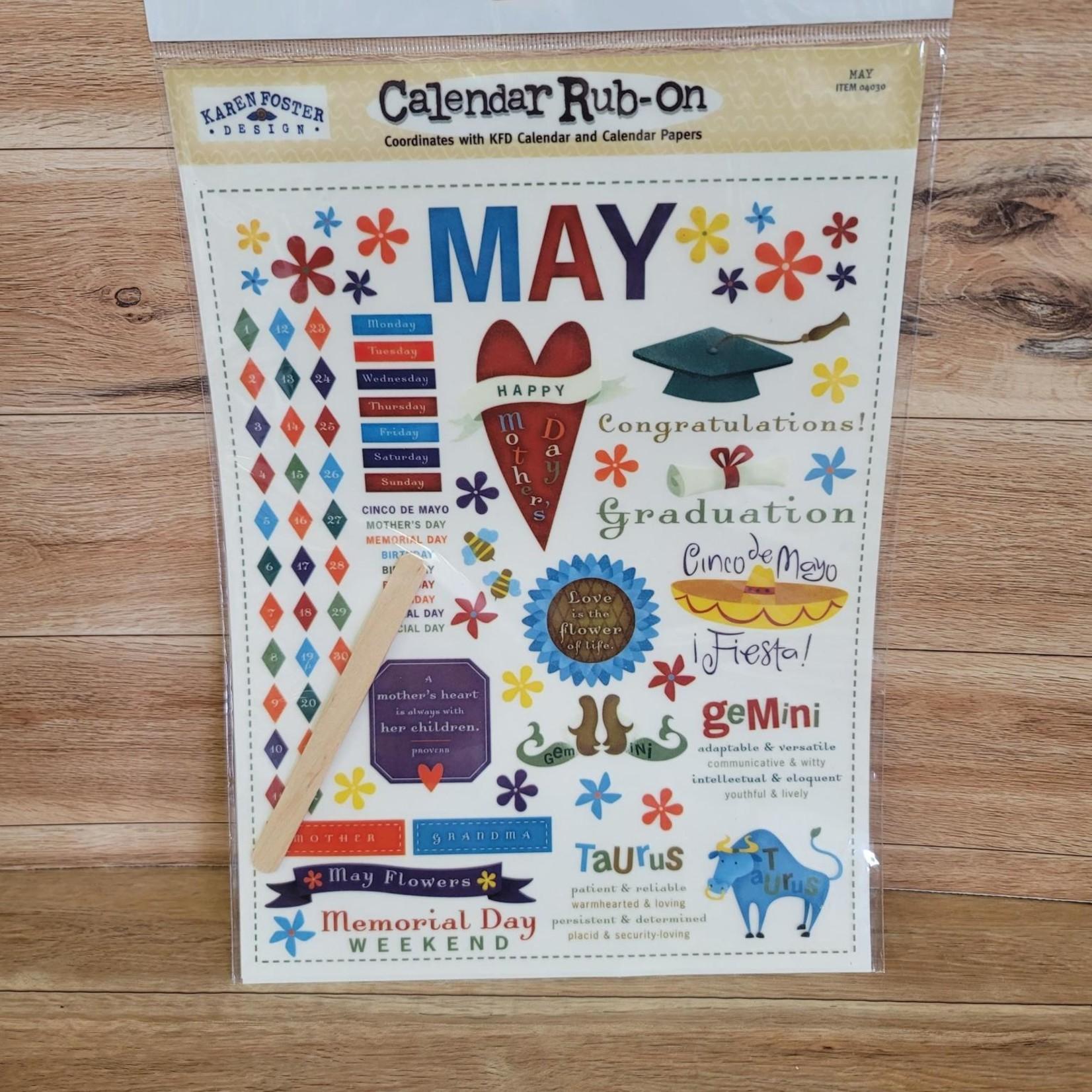 Calendar Rub-ons - May