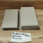 Chipboard letters + Numbers (missing D,K)