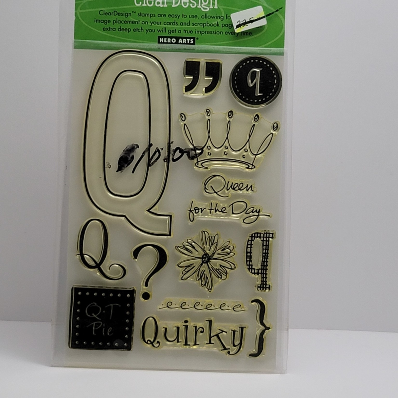 Clear stamps - Q - Queen for a day
