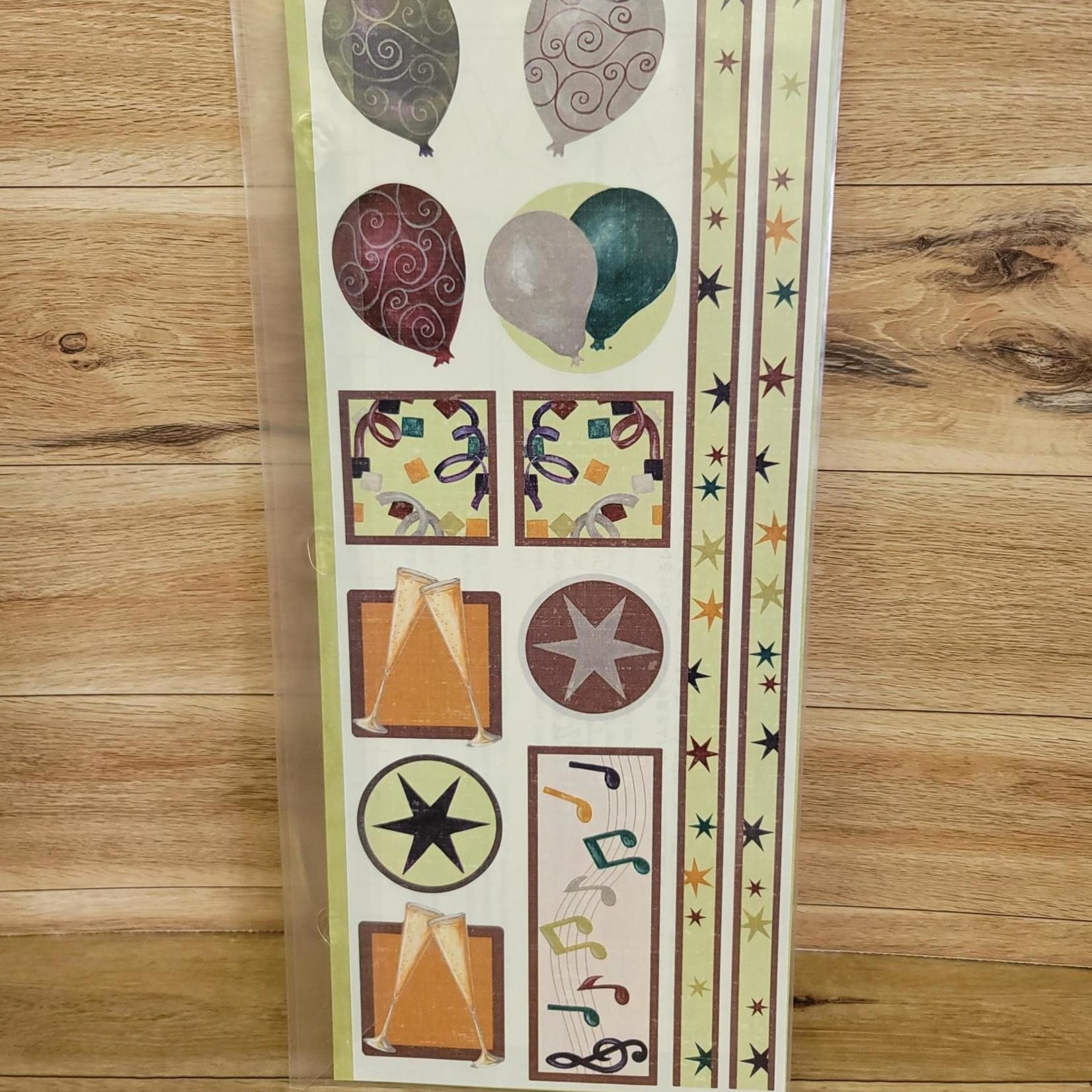 Creative Memories Sticker Sheet - Cottage Celebration