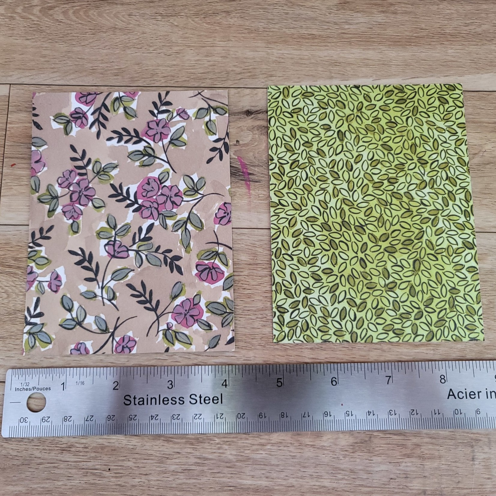 """Flat Card Blanks - Leaves and Flowers - 5 1/4"""" x 4"""""""