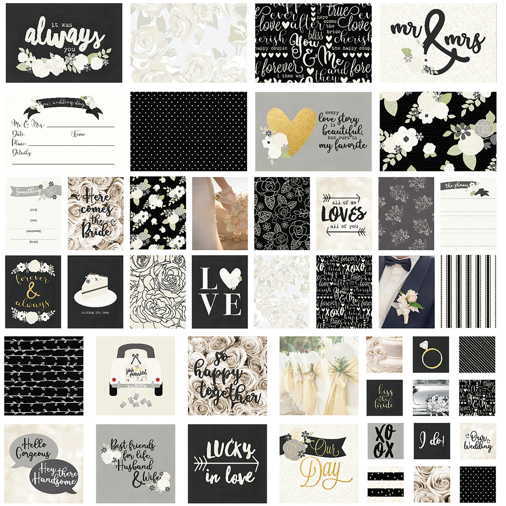 Simple Stories Sn@p! Card Pack 48/Pkg-Always & Forever