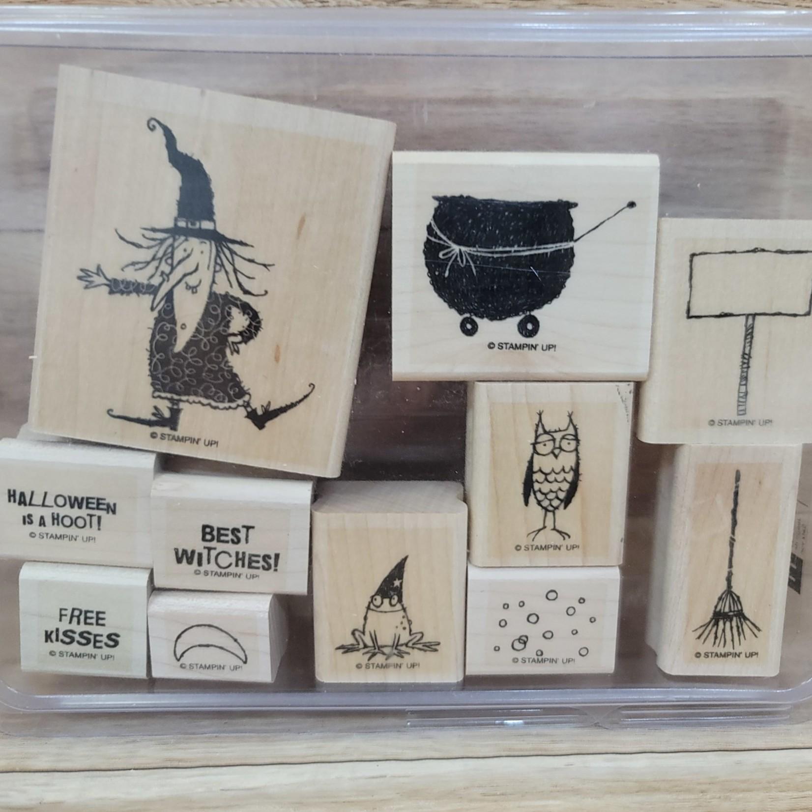 Stampin' Up Stampin Up - Block Stamp Set - Halloween Hoot