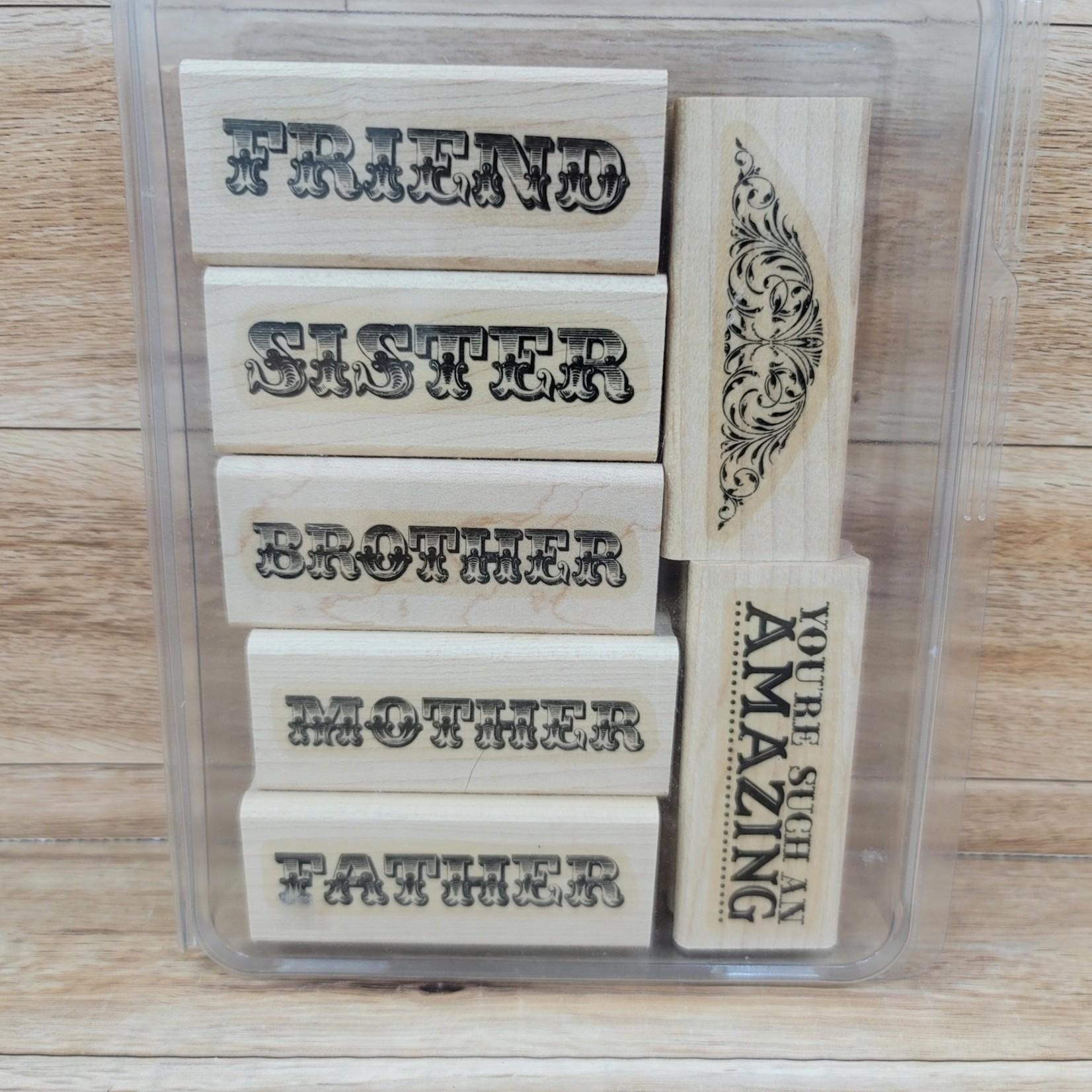 Stampin' Up Stampin Up - Block Stamp Set - Amazing Family