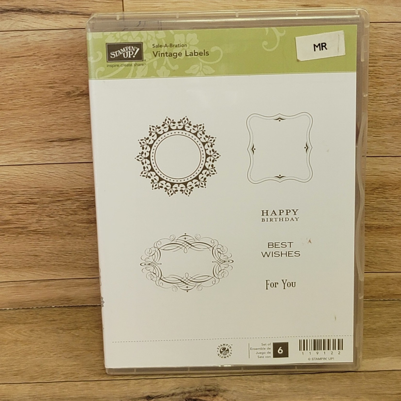 Stampin' Up Stampin Up - Rubber cling stamps - Vintage Labels