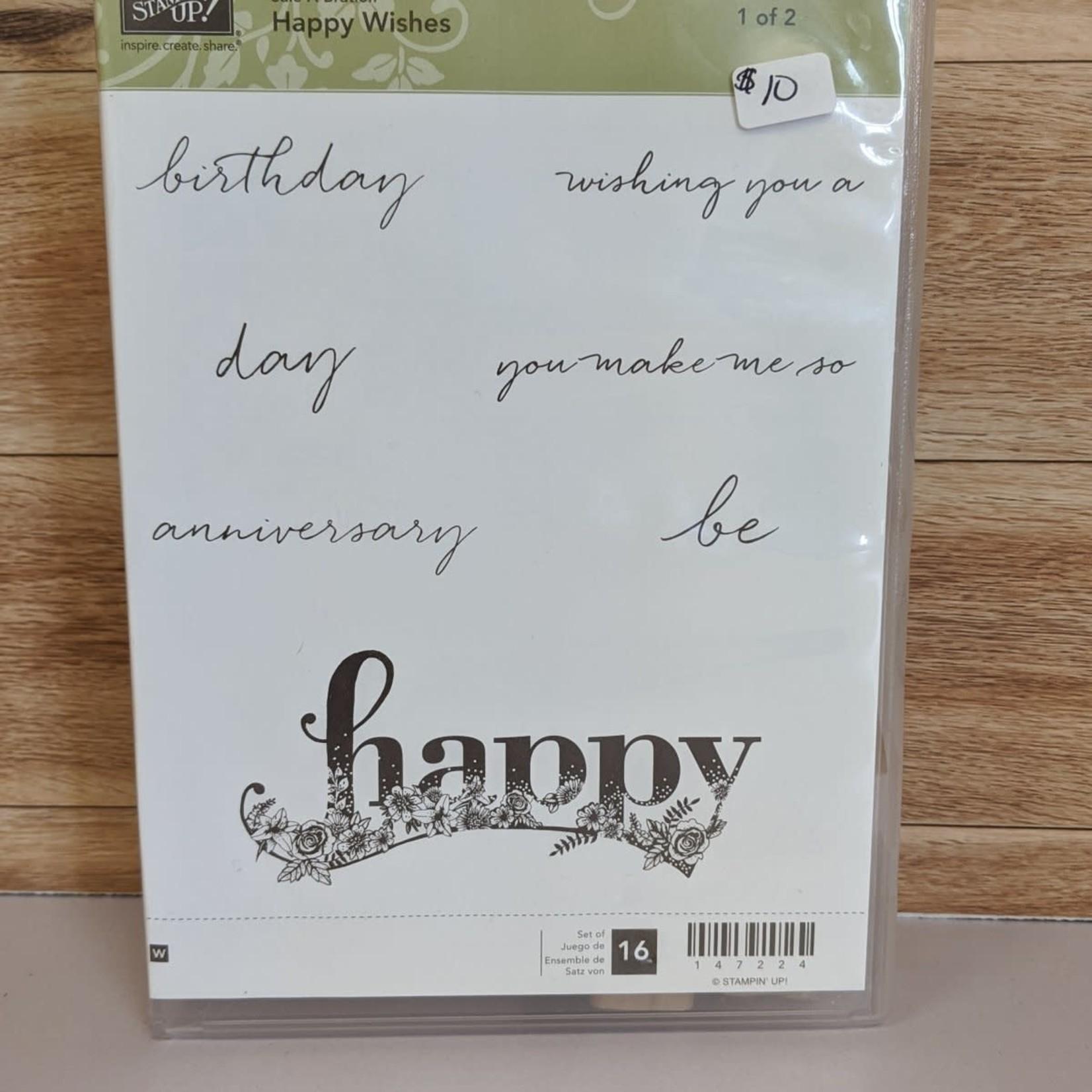Stampin' Up Stampin' Up - Block Stamp Set - Happy Wishes