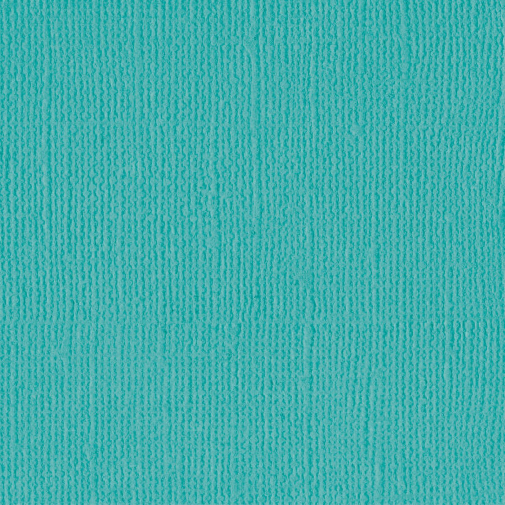 "Bazzill Bazzill 12"" x 12"" Canvas Cardstock Capri Sea"