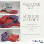 Macrame Kit - Mug Rug