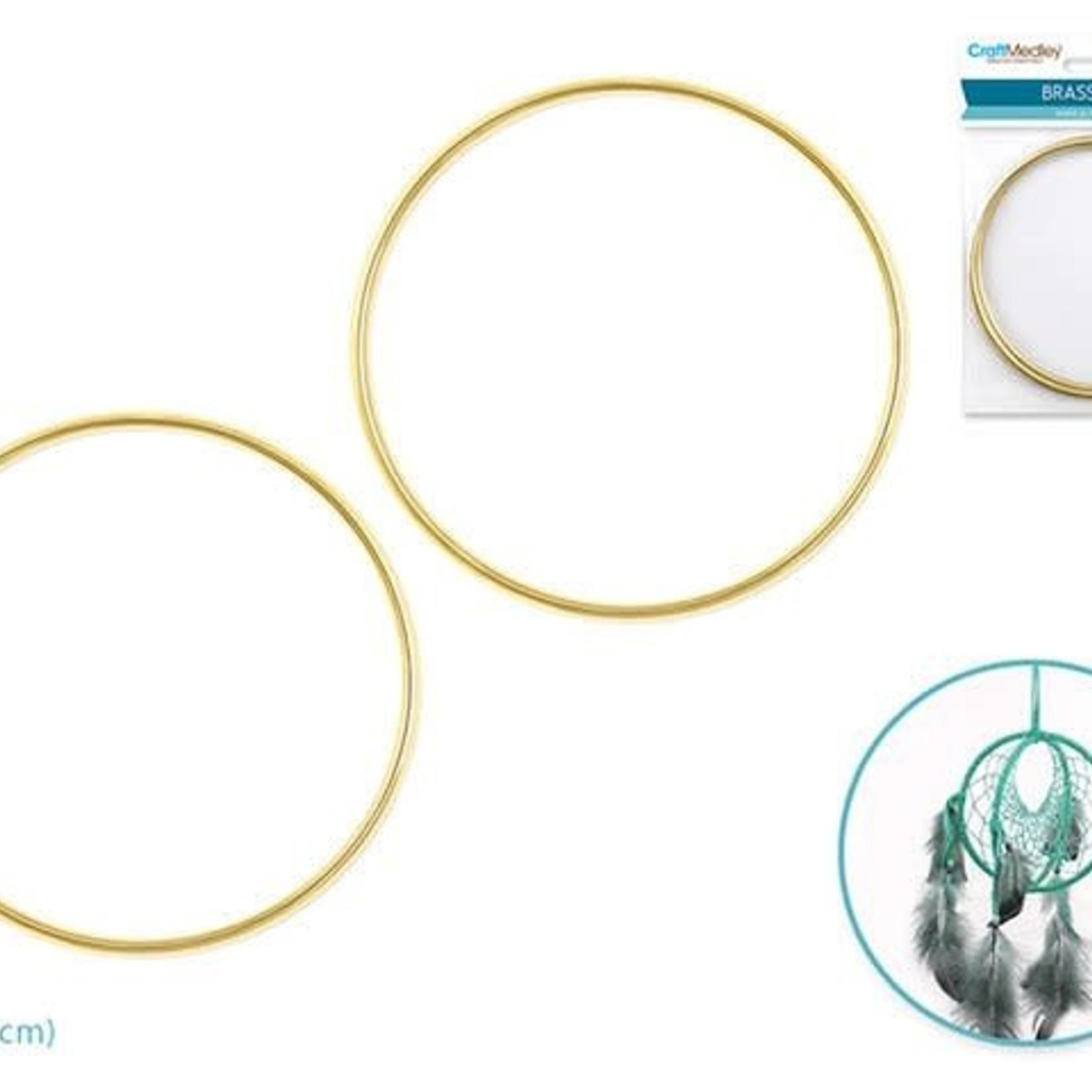 Brass Rings: 4'' Round x2