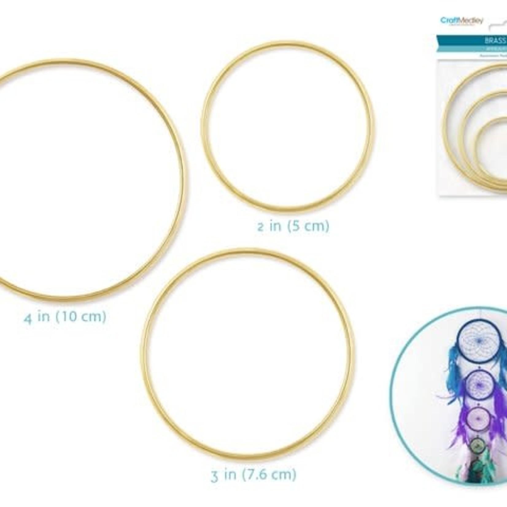Brass Rings: Assortment Pack x3 (2''+3''+4'')