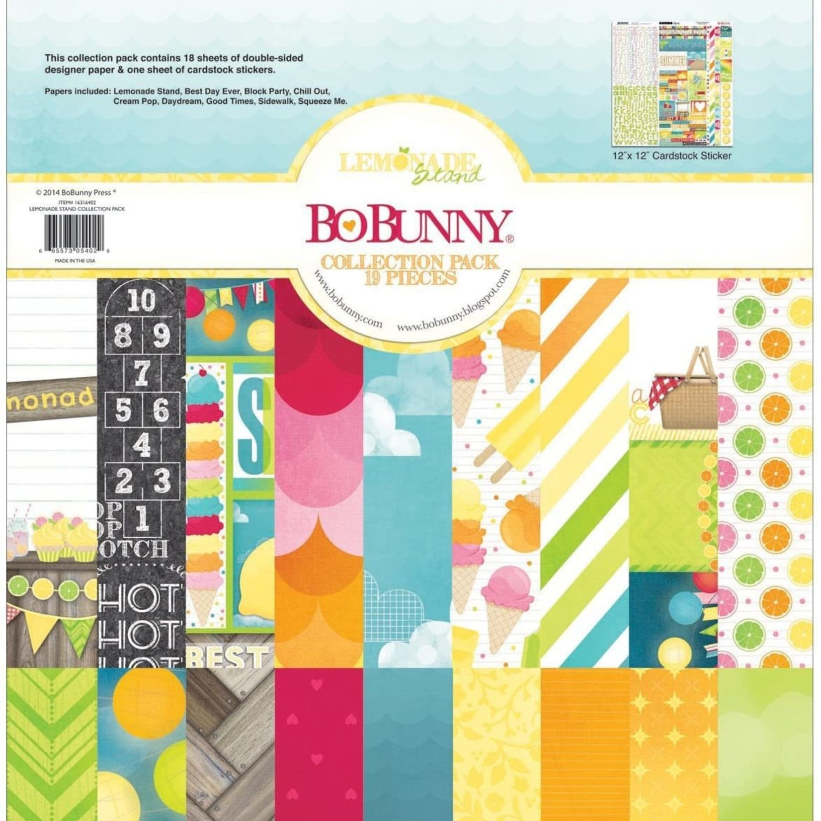 BoBunny BoBunny - Collection Pack - Lenonade Stand