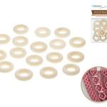 Wood Rings - 25mm Craft Rings x17 Natural