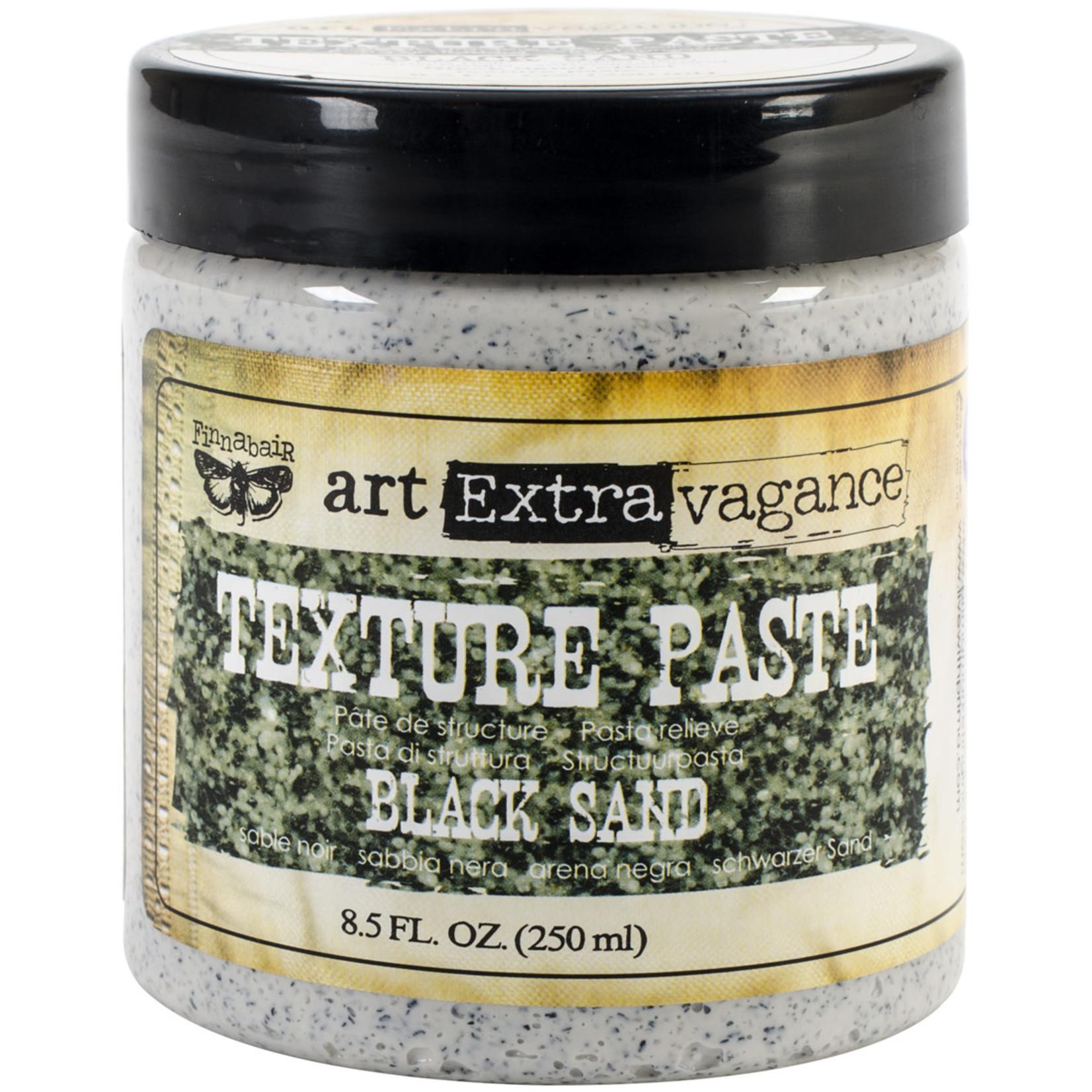 Prima Marketing Finnabair Art Extravagance Texture Paste 8.5oz-Black Sand