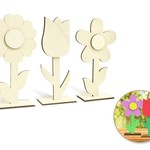 Wood Craft: 18cm DIY 3D Flower w/Base (each sold separately)