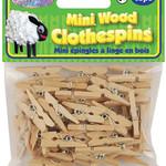 """Mini Wood Clothespins-Natural 1"""" 45/Pkg"""