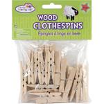 """Wood Clothespins-Natural 1.875"""" 24/Pkg"""