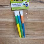 Krafty Kids - Chunky Brushes - 3 pack -White Nylon