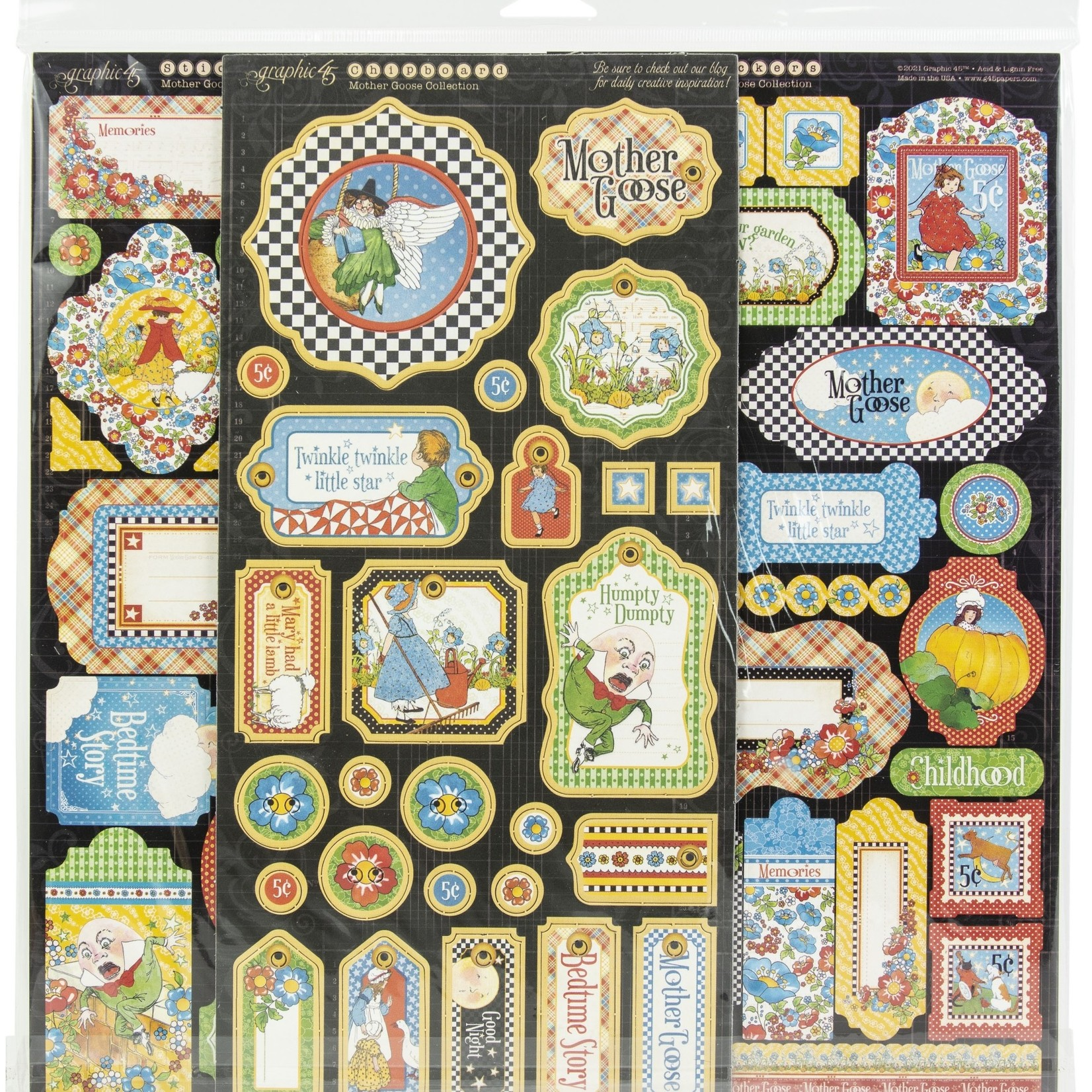 """Graphic 45 Graphic 45 Deluxe Collector's Edition Pack 12""""X12""""-Mother Goose"""