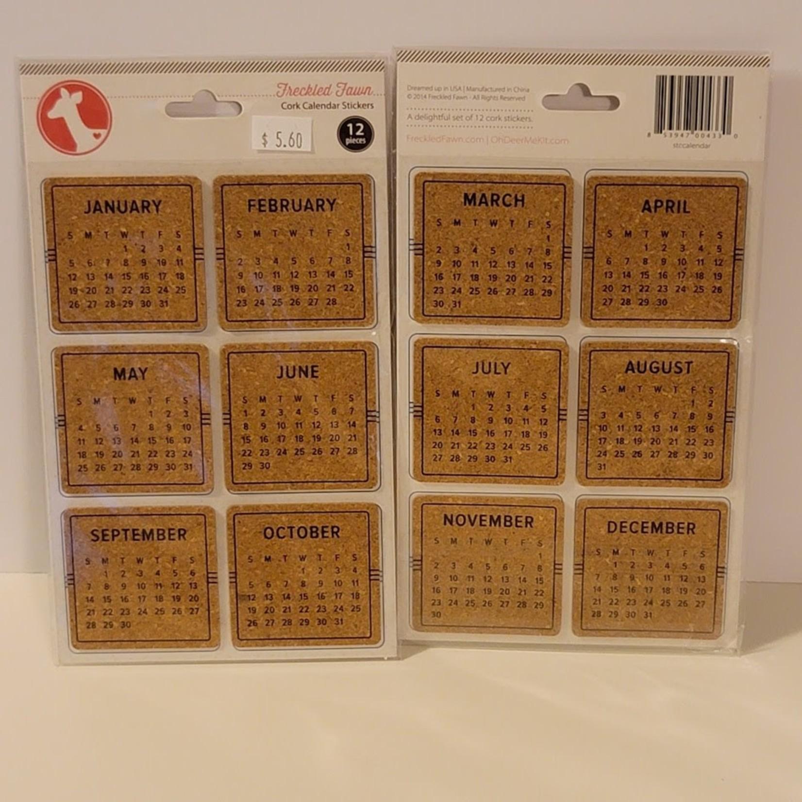 Freckled Fawn - Cork Calendar Stickers