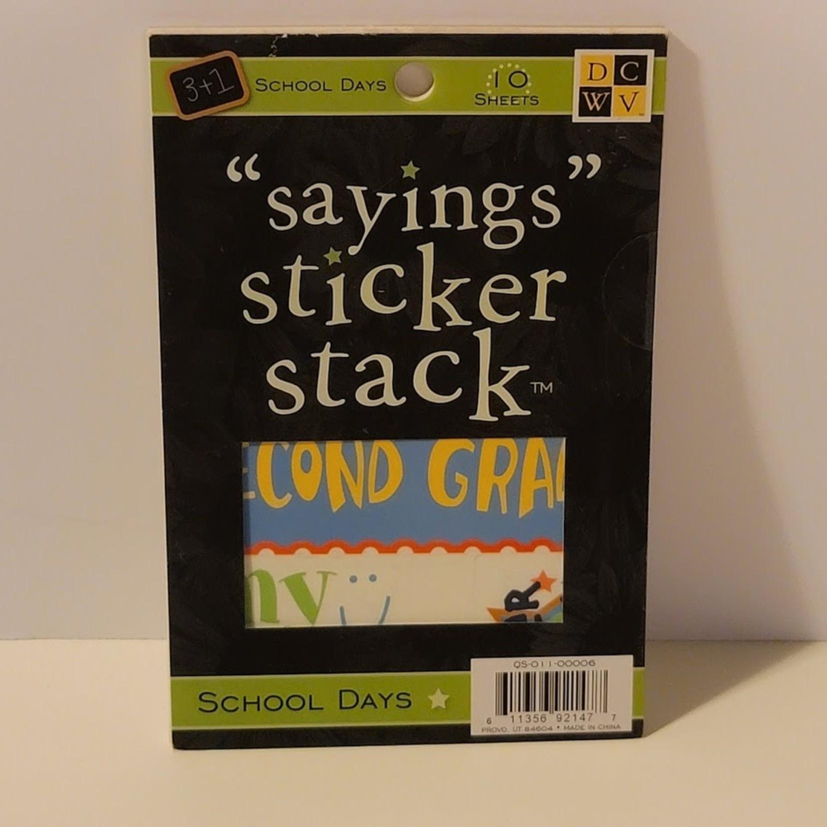 DCWV - Sayings Sticker Stack - School Days