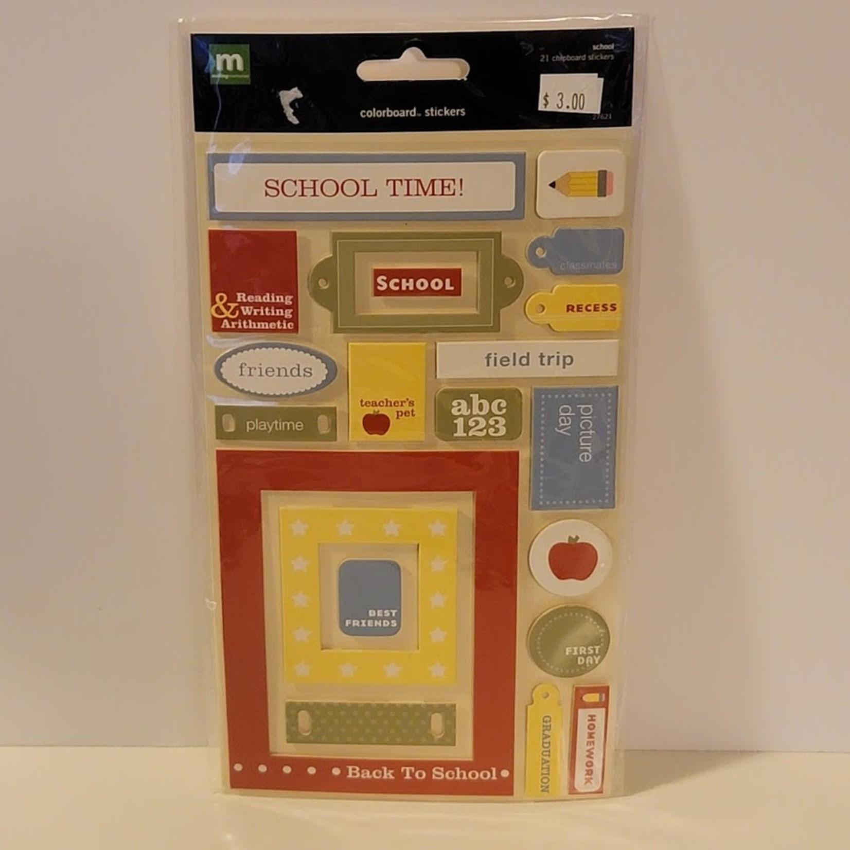 Chipboard Stickers - Back to School