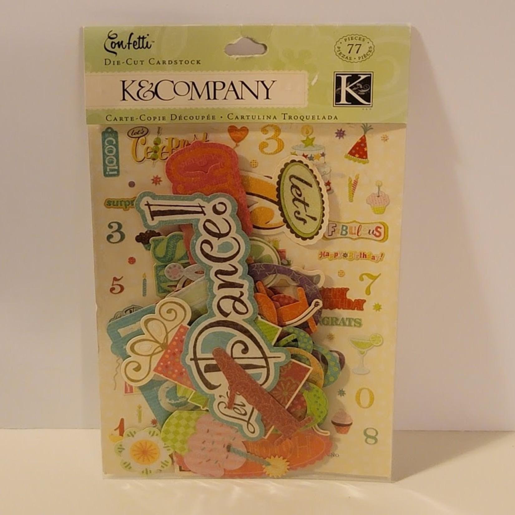 K&Company - Die-Cut Cardstock - Confetti