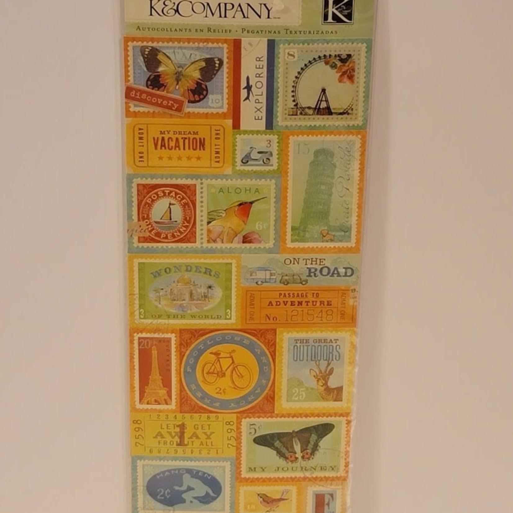 K&Company - Embossed Stickers - Brenda Walter