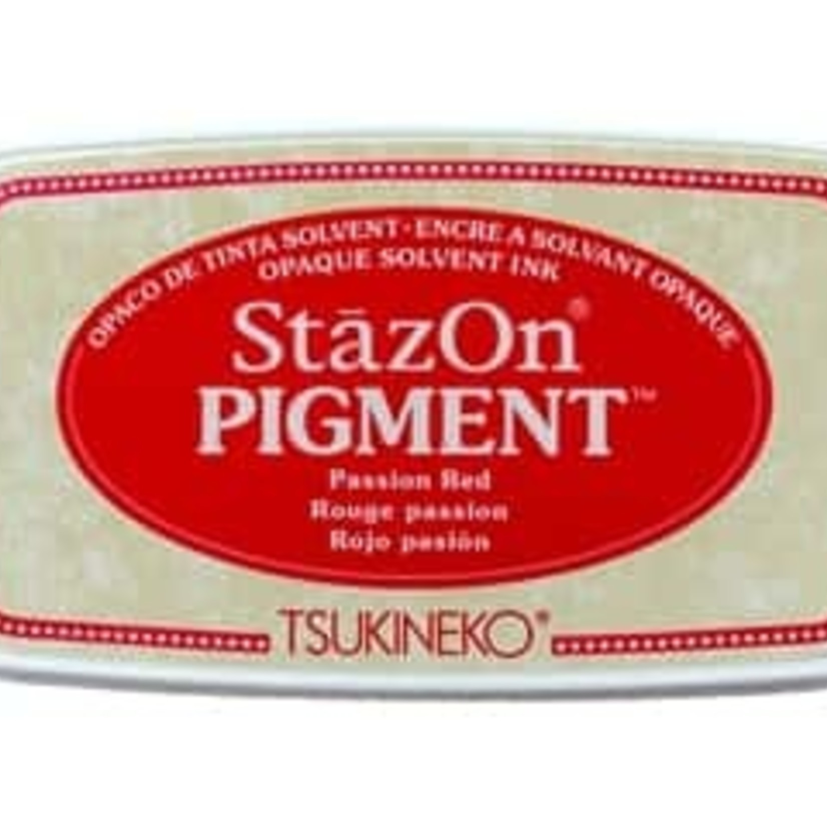 StazOn StazOn Pigment Ink Pad-Passion Red