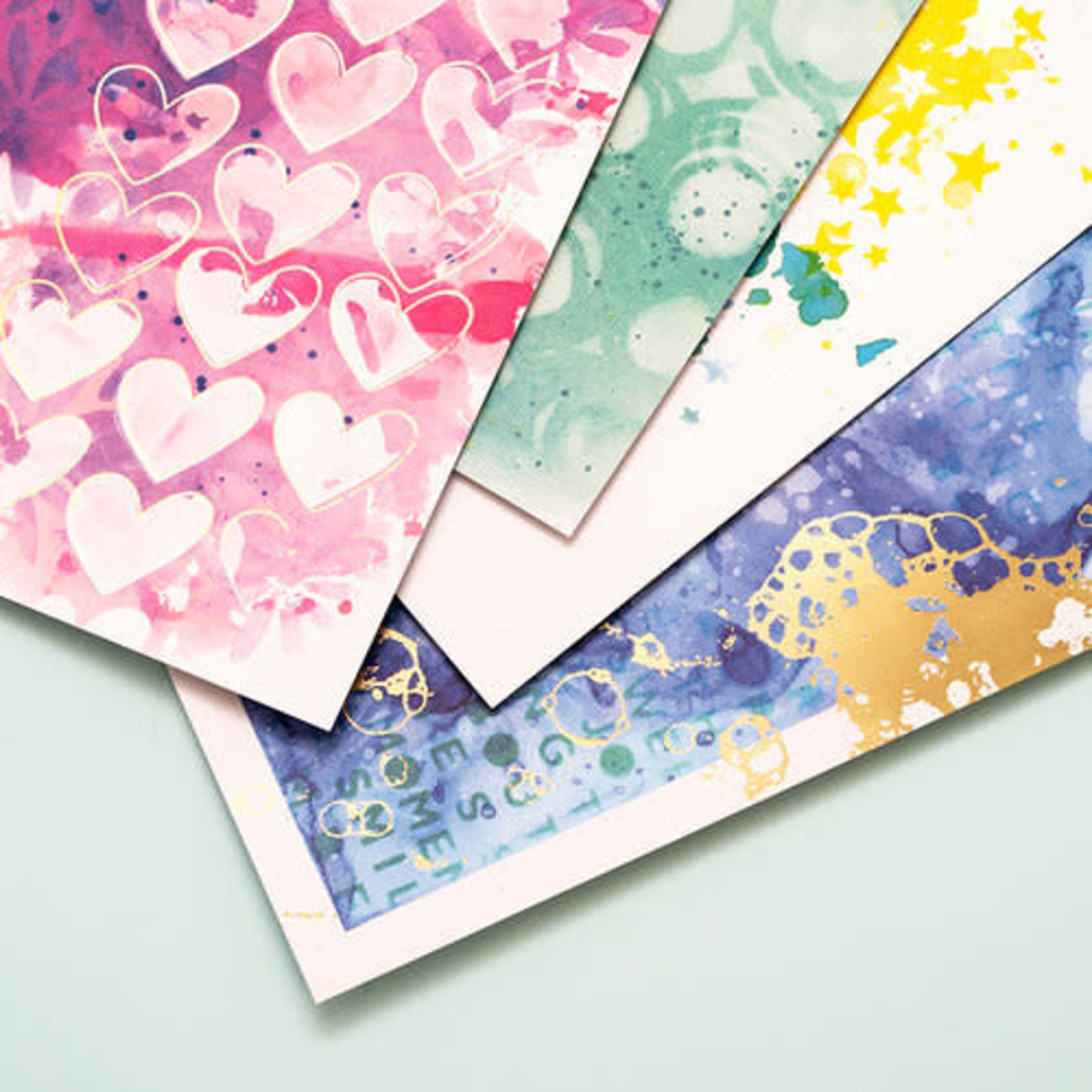 American Crafts Vicki Boutin - Ready to Use Mixed Media Paper Pad
