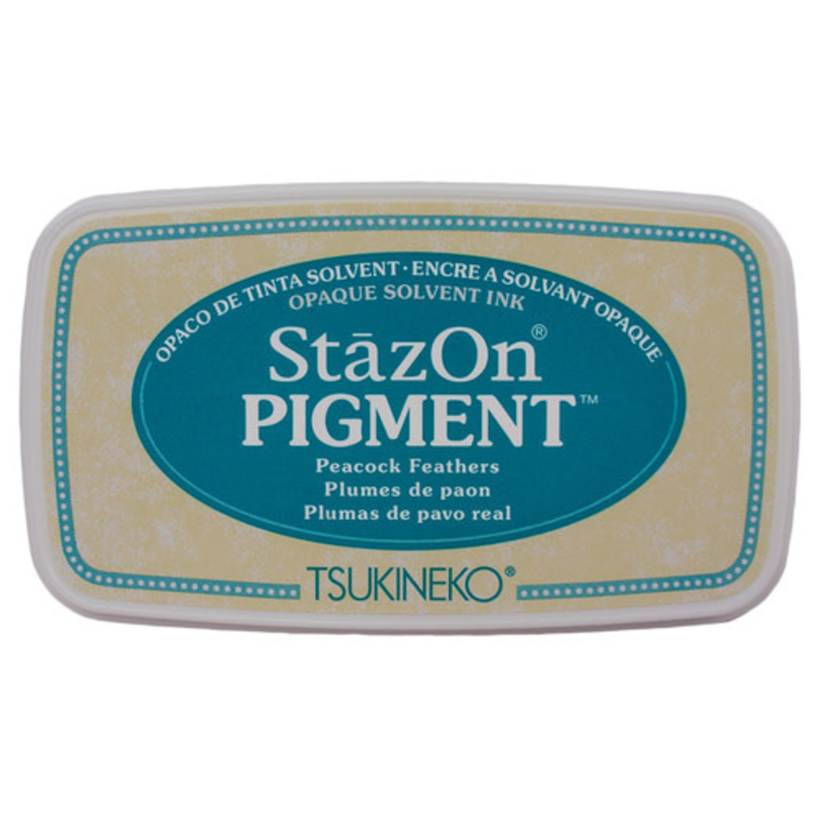 StazOn Pigment Ink Pad-Peacock Feathers