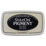 StazOn Pigment Ink Pad-Piano Black