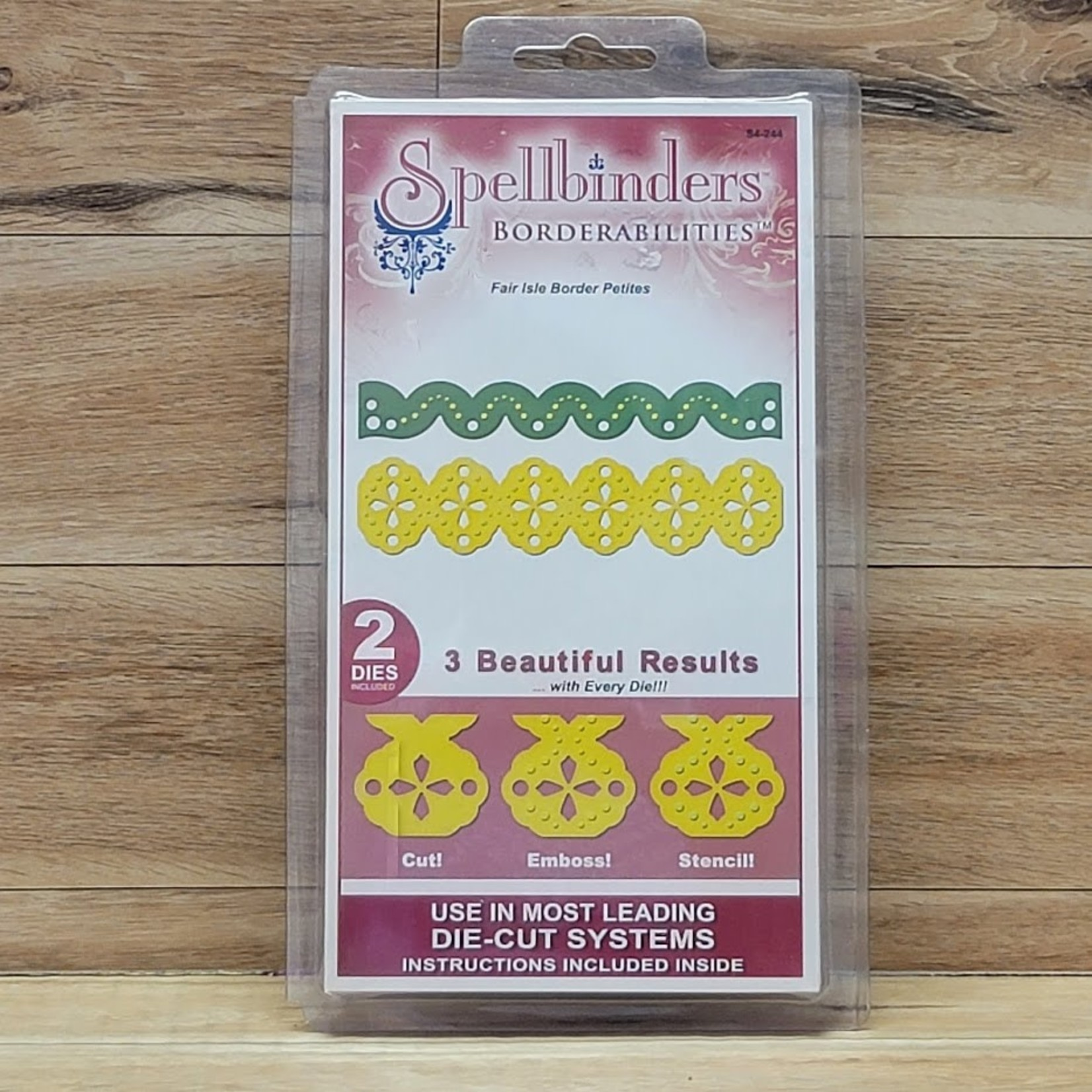 Spellbinders Spellbinders - Borderabilities - Fair Isle Border Petities