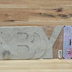 Chipboard Word Book - Boy