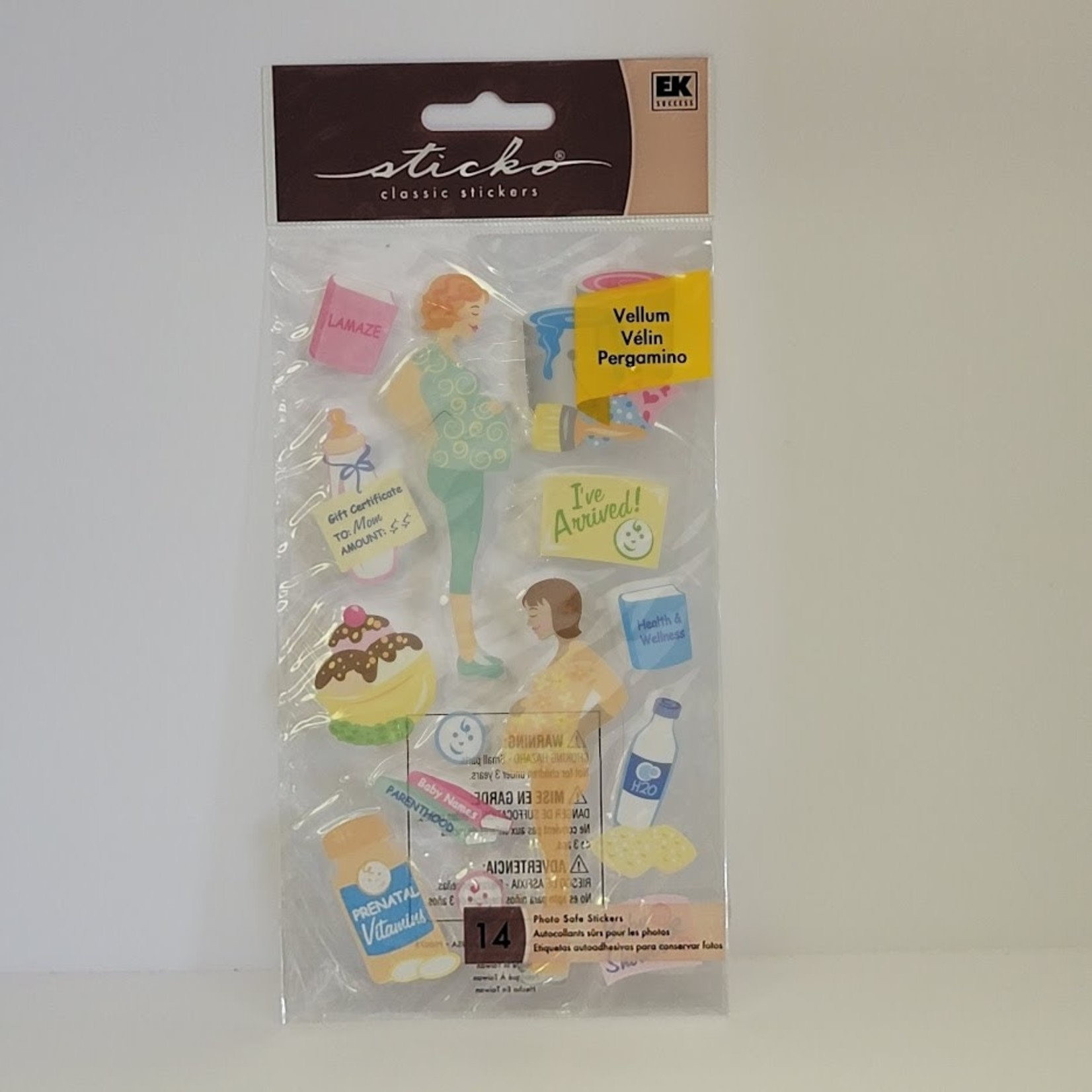 Vellum Stickers - Pregnancy