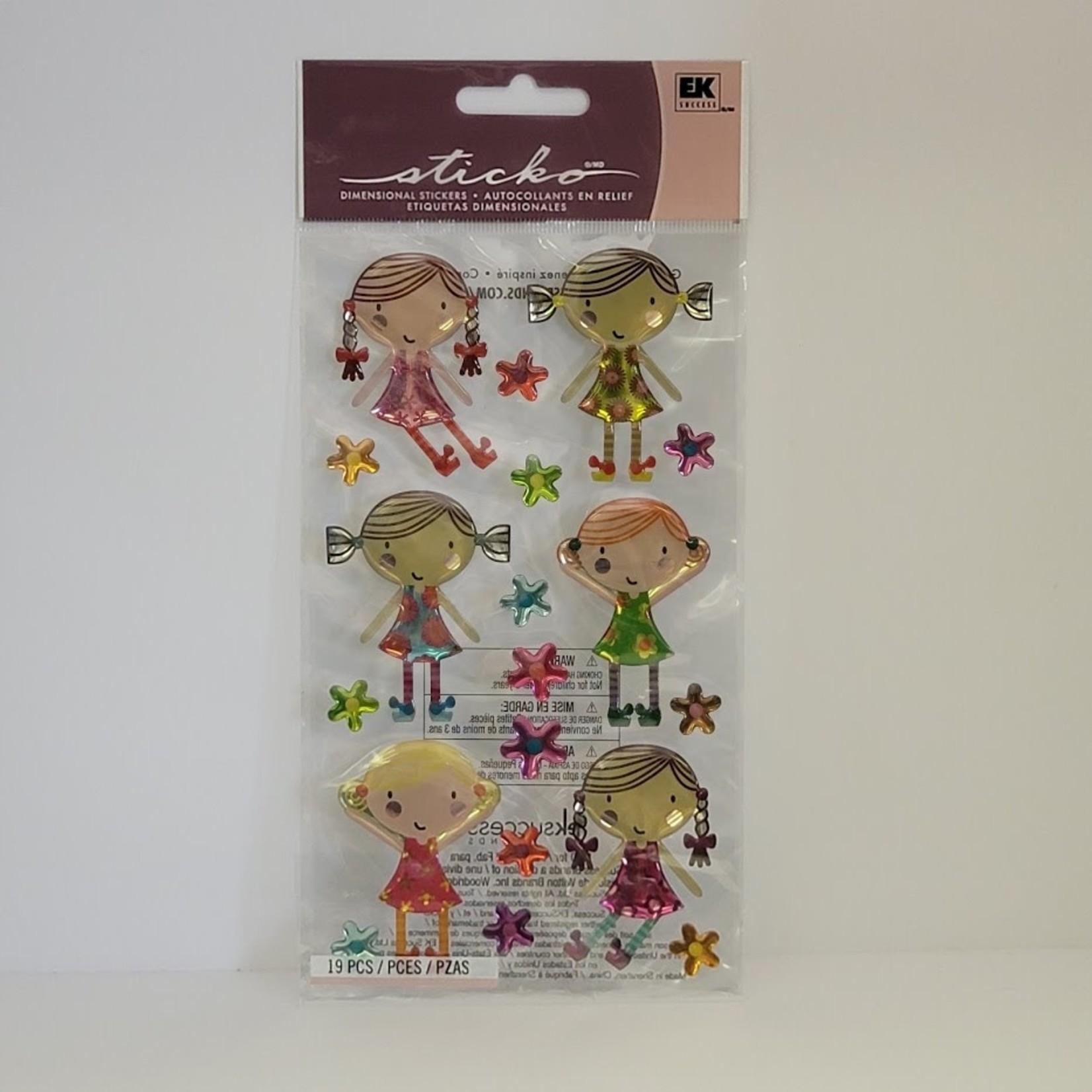 Dimensional Stickers - Cute Dolls