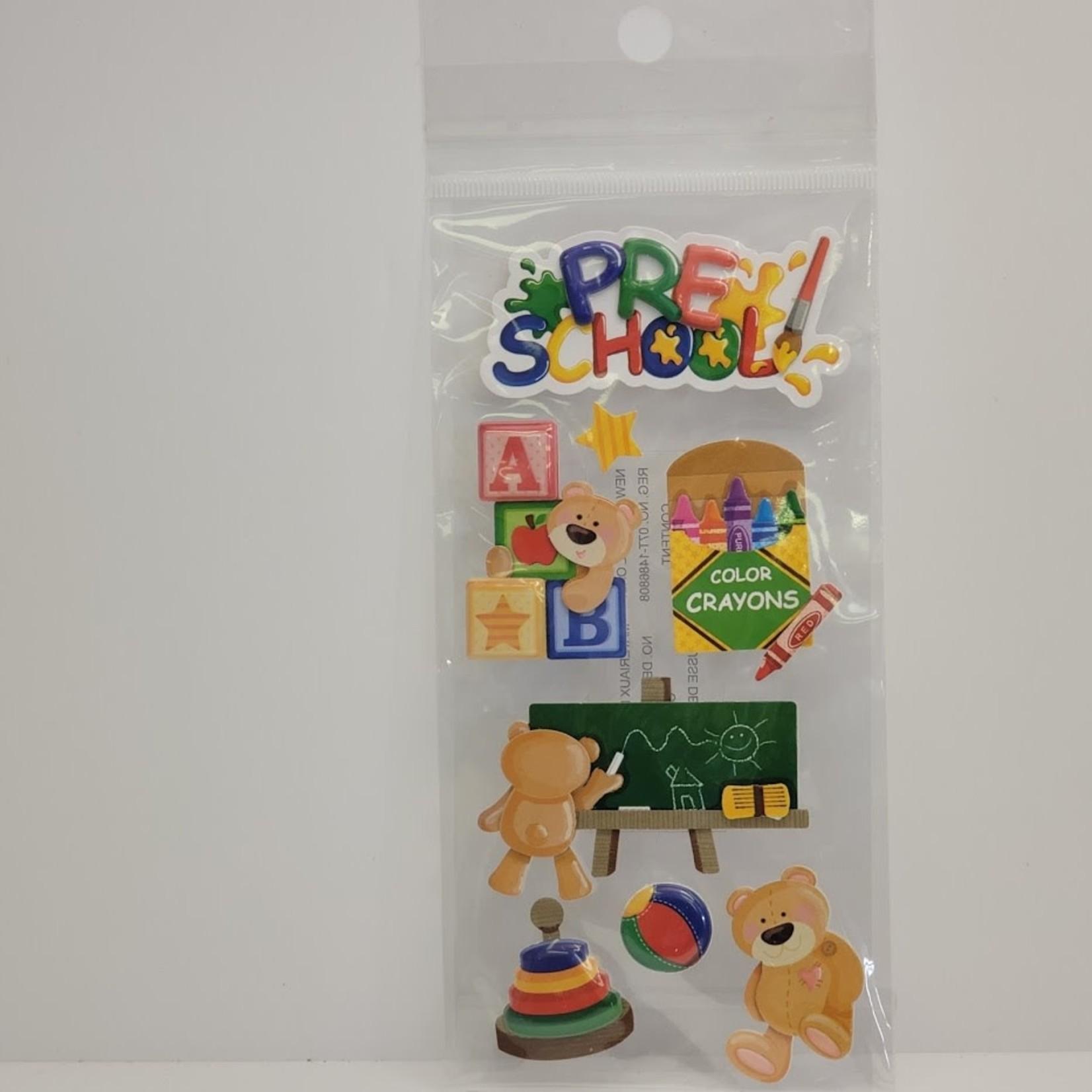 Dimensional Stickers - Pre-School