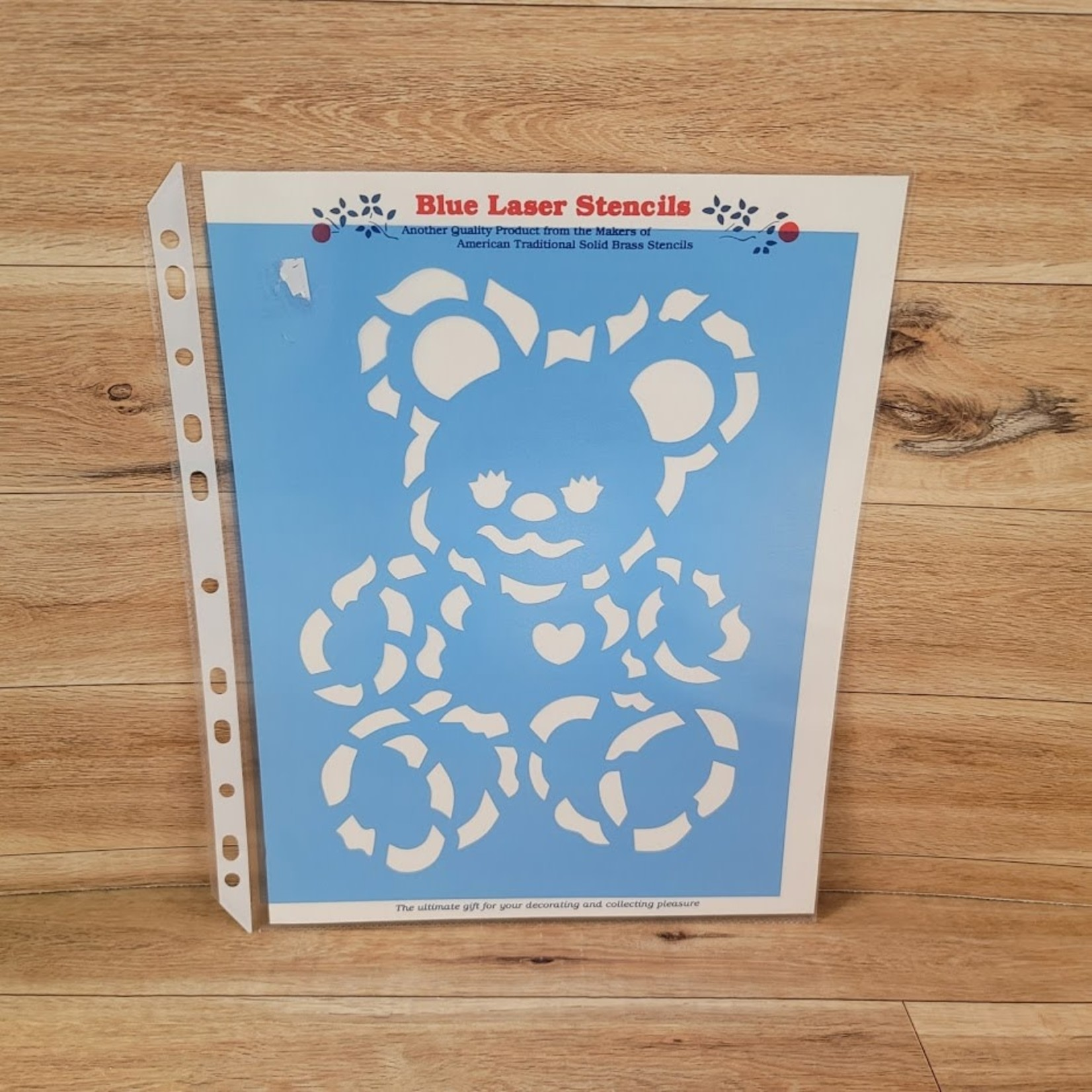 Blue Laser Stencils - Teddy Bear