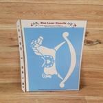 Blue Laser Stencils - Rocking Horse