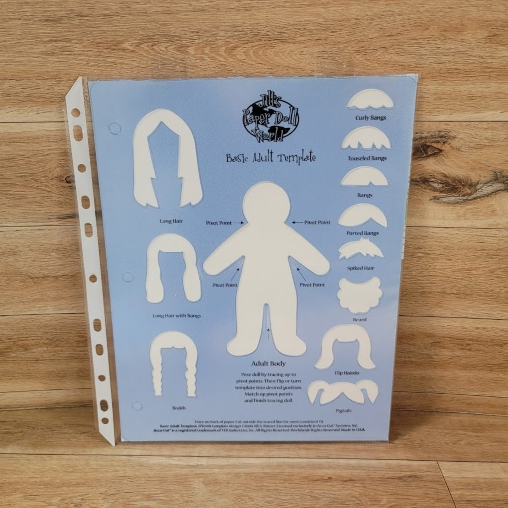 Jill's Paper Doll World - Basic Adult Template