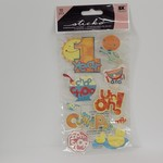 Dimensional Stickers -  1 year Old