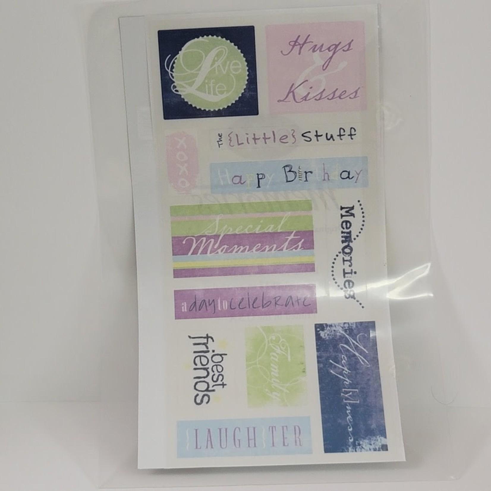 Creative Memories Creative Memories - Stickers - Tinted Title