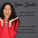 Open Studio / Crop Night - July 9th 5pm to Midnight
