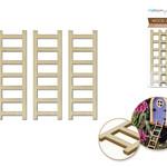 Wood Ladders - 3pc