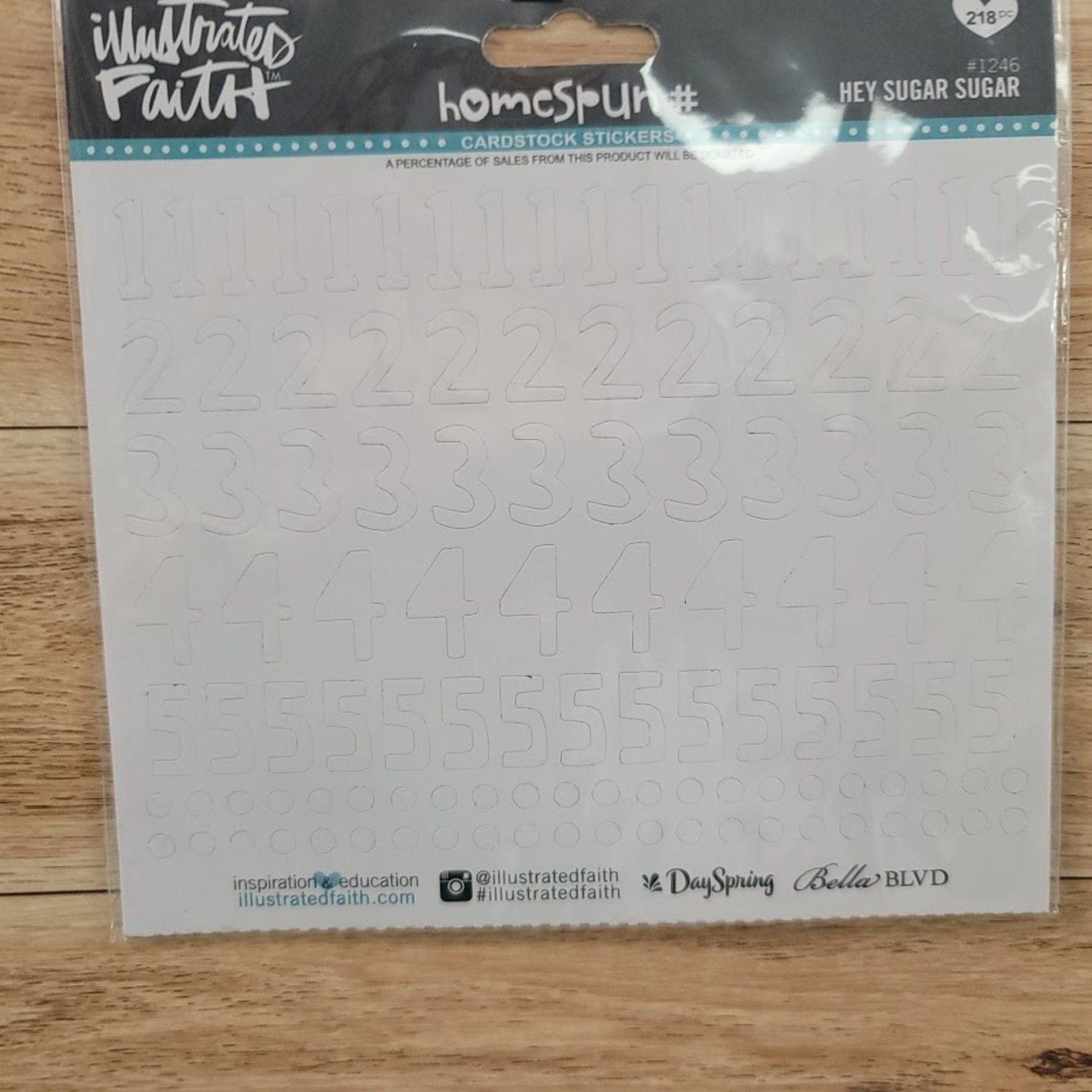 Cardstock Stickers - White Numbers