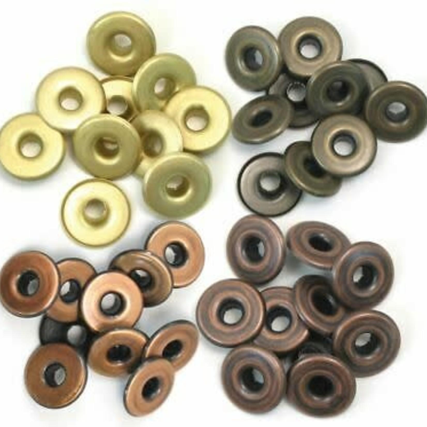 We R memory keepers We R Memory Keepers - Eyelets Wide 40/Pkg-Warm Metal