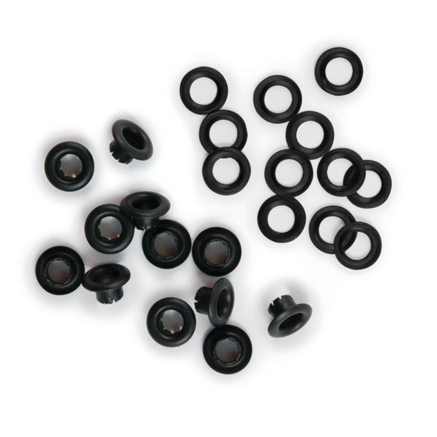 We R memory keepers We R Memory Keepers - Eyelets & Washers Standard-Black 70/Pkg