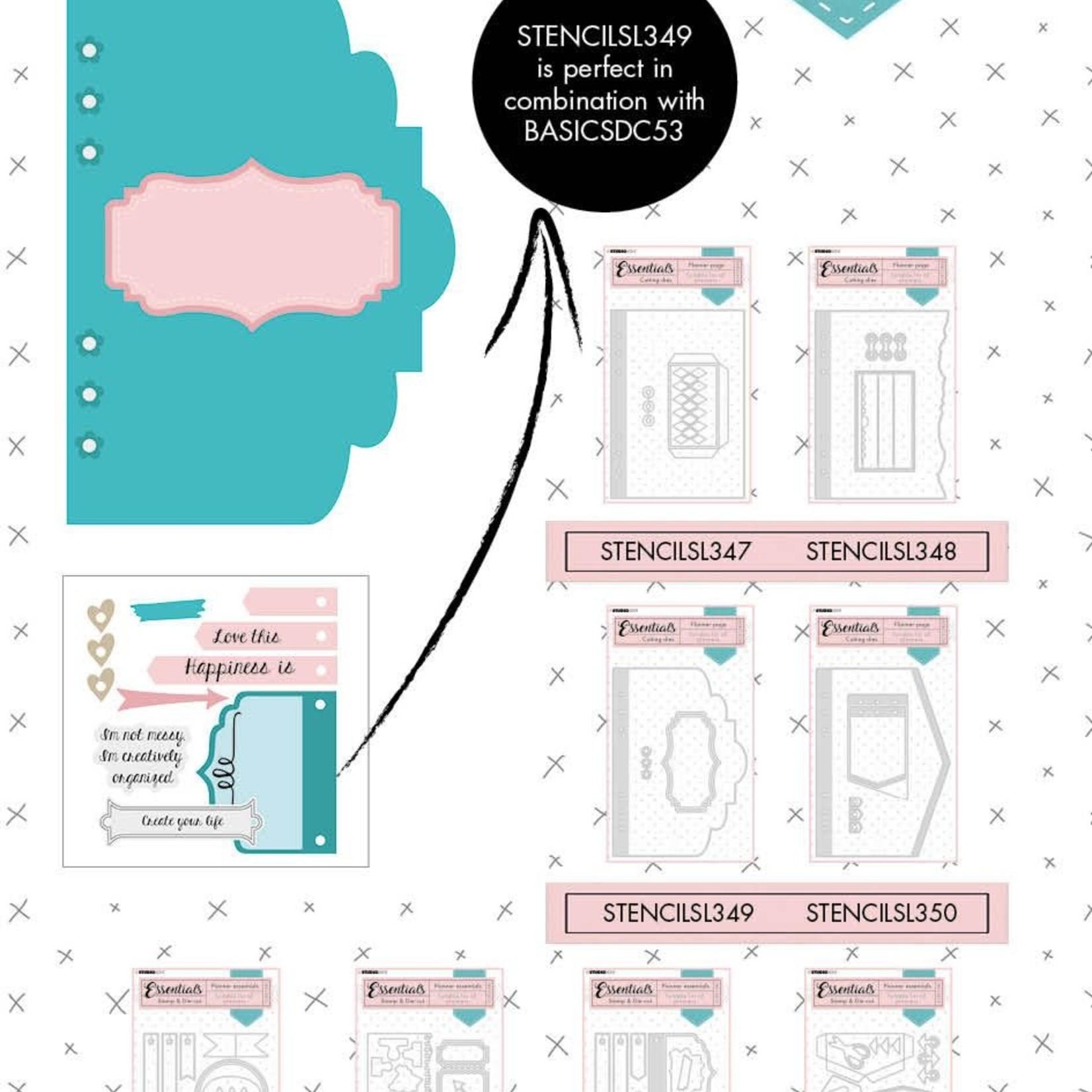 Studio Light Studio Light - Cutting Die Brace Planner Essentials nr.349