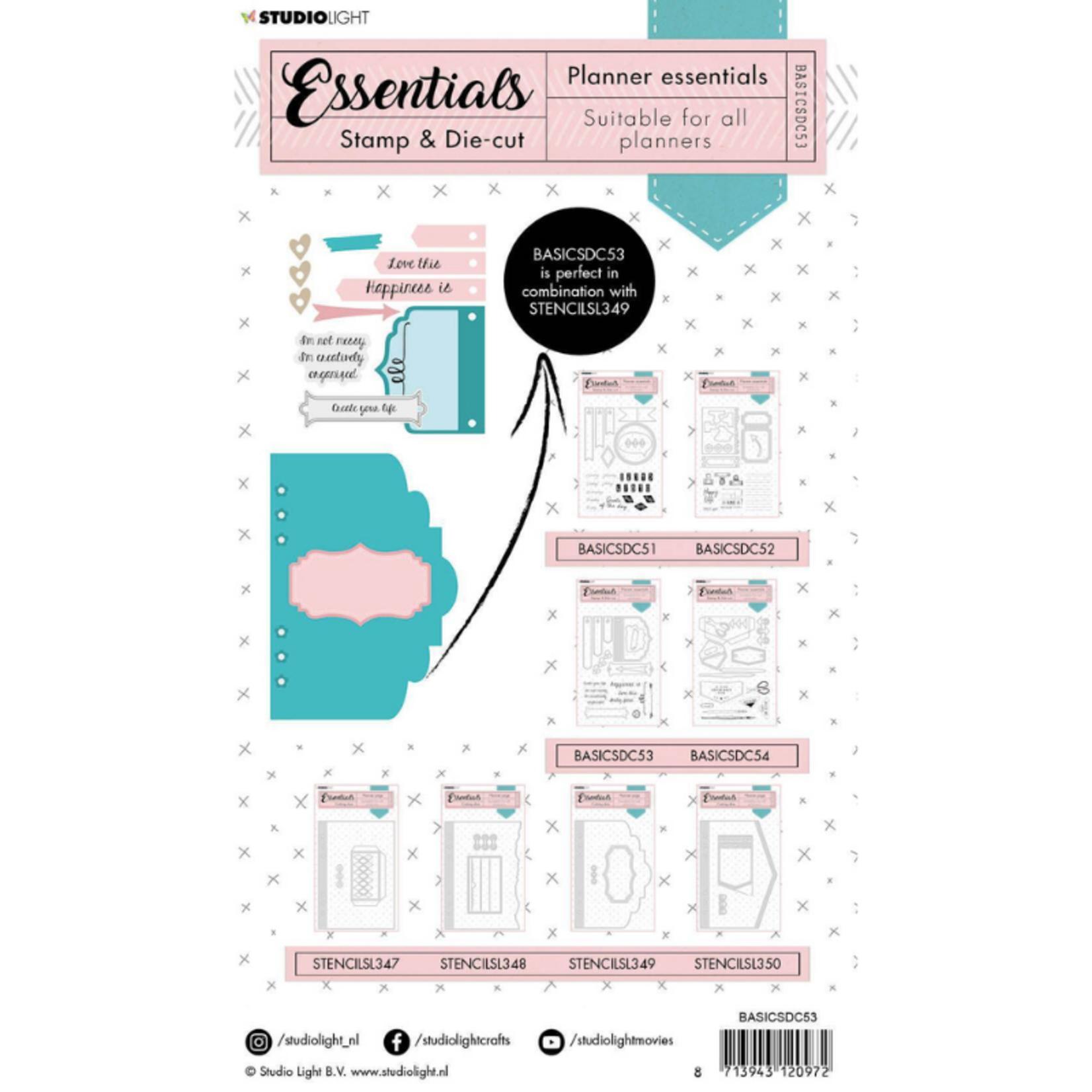 Studio Light Studio Light - Stamp & Die-cut Rectangle Planner Essentials nr.53