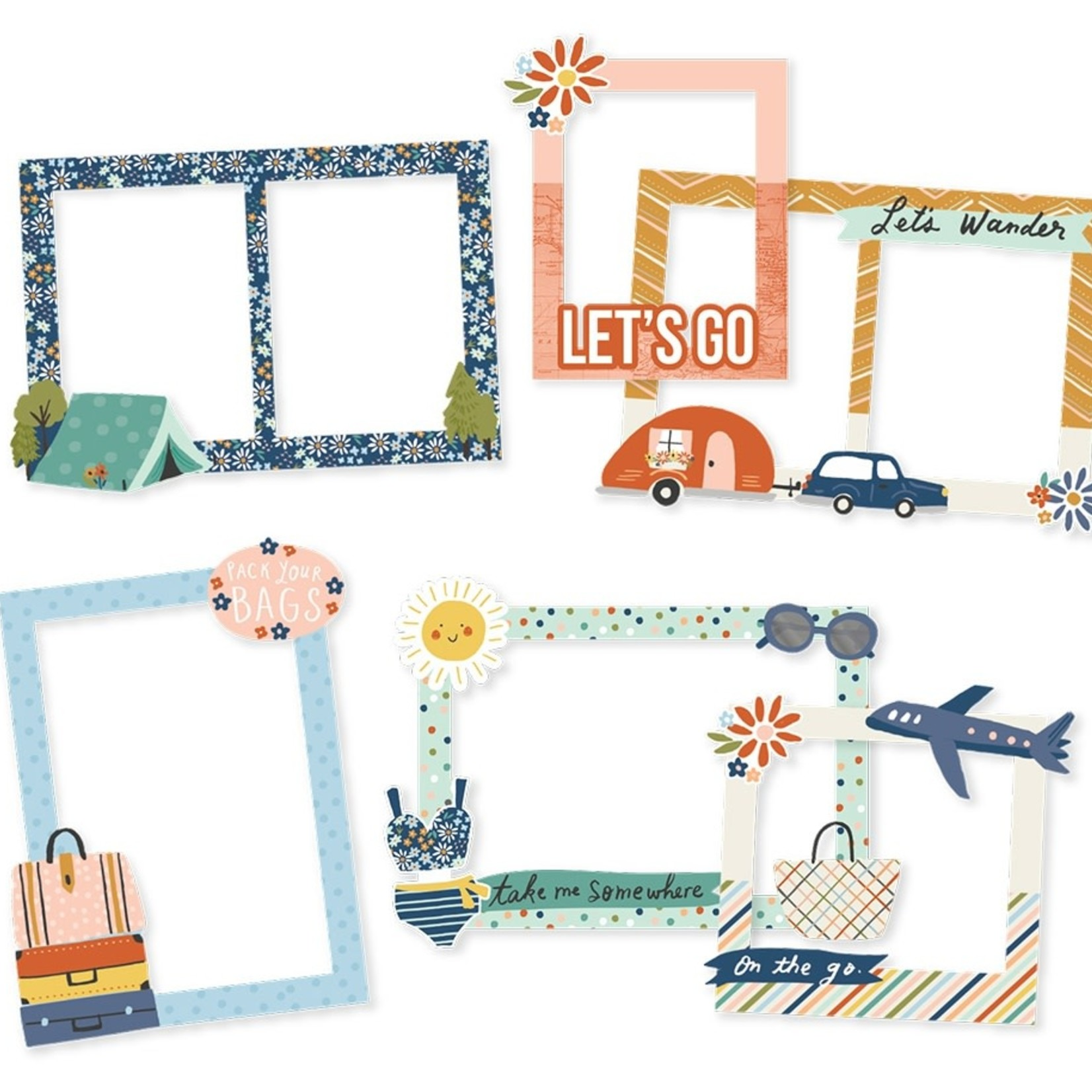 Simple Stories Simple Stories - Chipboard Frames - Safe Travels