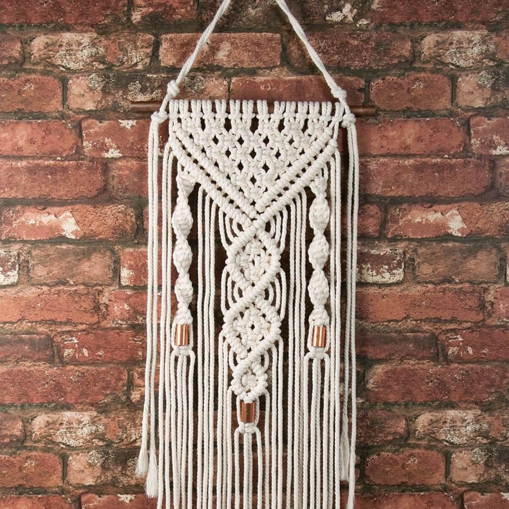 Macrame Wall Hanger Kit-Dual Spirals